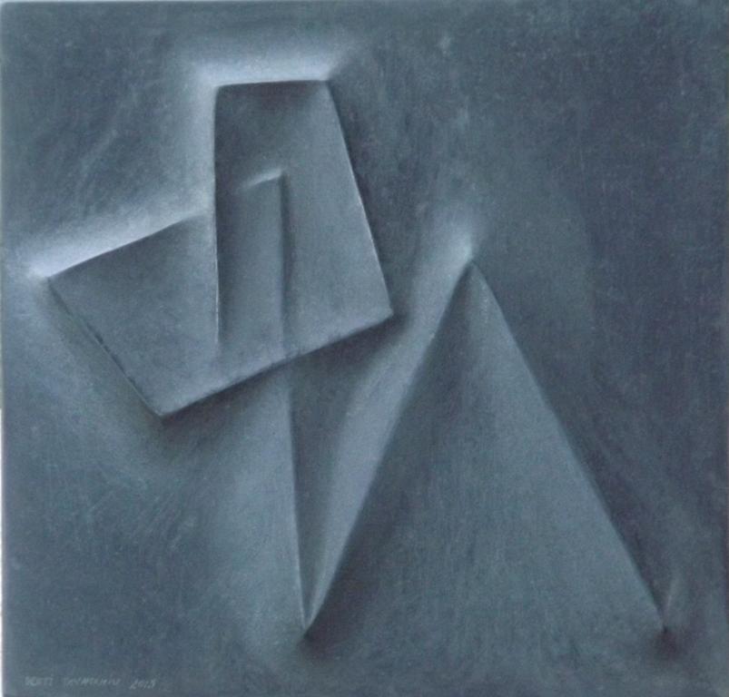 Zeus, 40 x 41x 3 cm, black Granit 2015